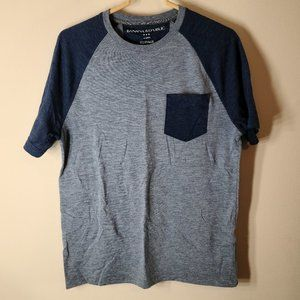 Banana Republic M Light & Navy Blue Baseball Shirt